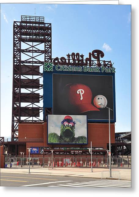 Phillies Citizens Bank Park - Baseball Stadium Greeting Card by Bill Cannon