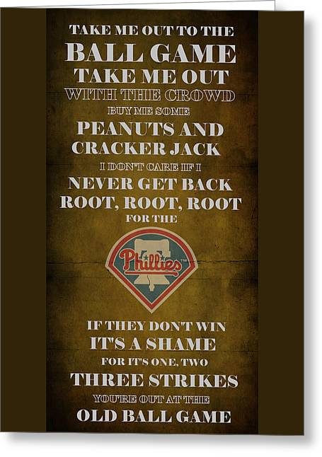 Phillies Peanuts And Cracker Jack  Greeting Card by Movie Poster Prints
