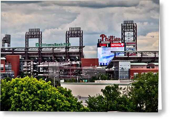 Phillies Stadium Greeting Card by Stacey Granger