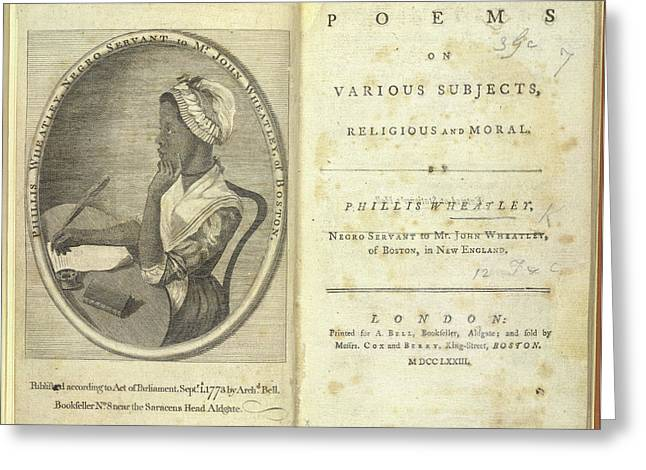 Phillis Wheatley Greeting Card by British Library