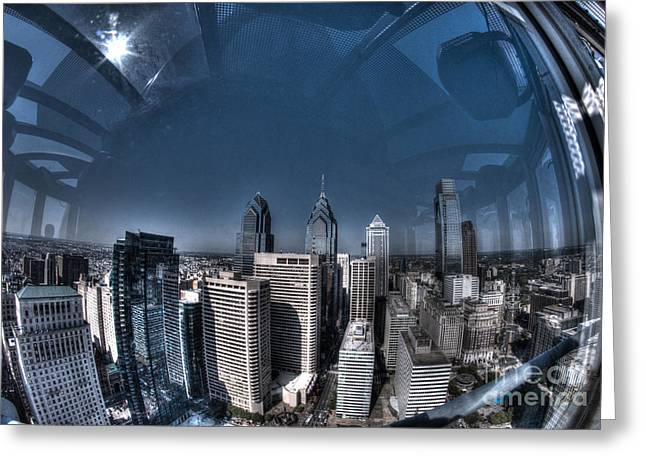 Philly In A Fish Bowl Greeting Card by Mark Ayzenberg
