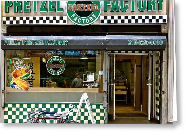 Philly Pretzel Factory Greeting Card