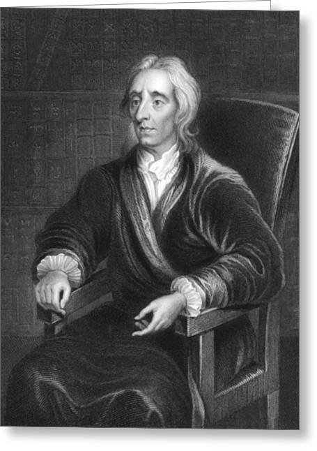 Philosopher John Locke Greeting Card by Underwood Archives