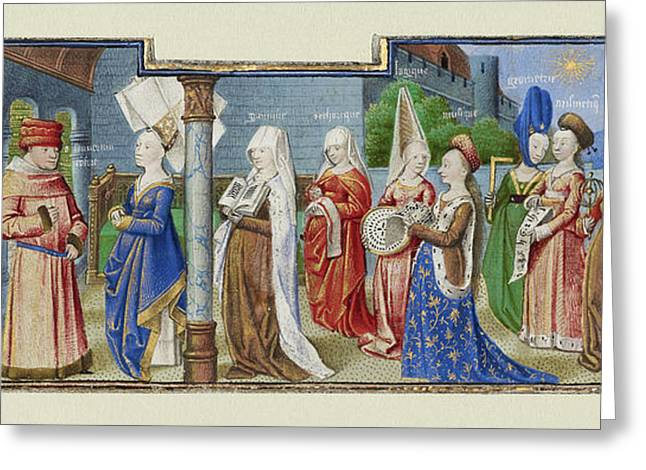 Philosophy Presenting The Seven Liberal Arts To Boethius Greeting Card