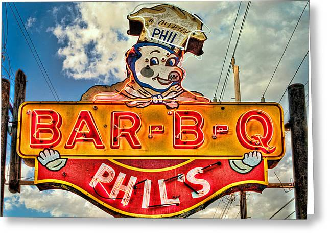 Phils Barbeque Greeting Card