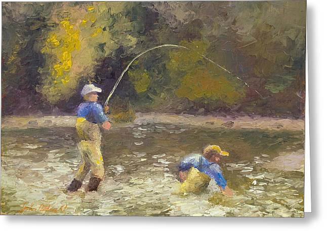 Phil's Fish Greeting Card by John Albrecht