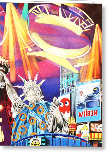 Phish New Years In New York Right Panel Greeting Card by Joshua Morton