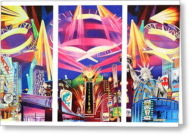 Phish New York For New Years Triptych Greeting Card