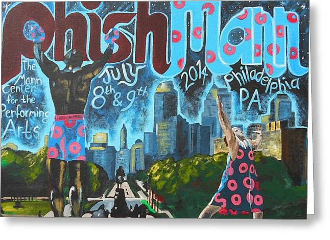 Phishmann Greeting Card by Kevin J Cooper Artwork