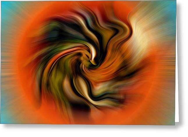 Phoenix Greeting Card by Alessandro Della Pietra