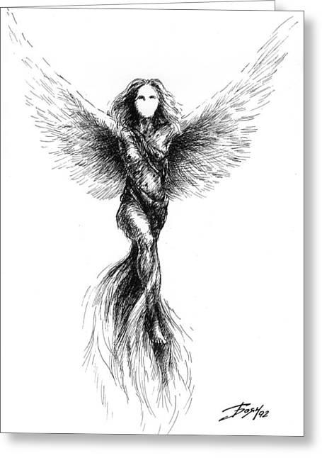 Phoenix Greeting Card by Boyan Donev