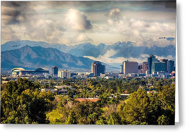 Phoenix Downtown Greeting Card