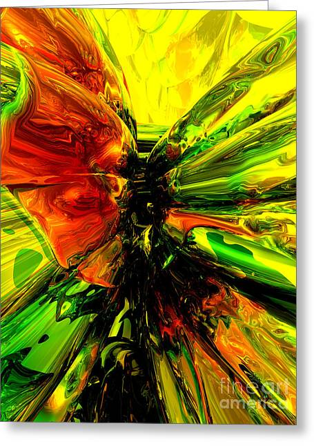 Phoenix Rising Abstract Greeting Card by Alexander Butler
