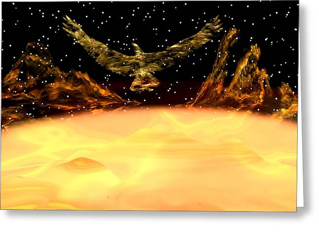 Phoenix Rising Greeting Card by Michele Wilson