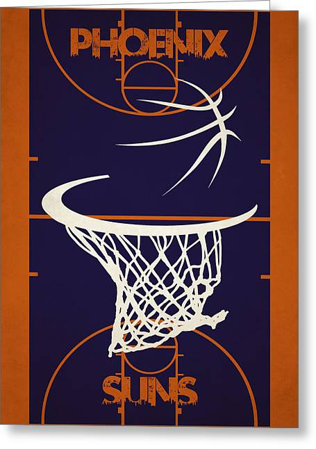 Phoenix Suns Court Greeting Card