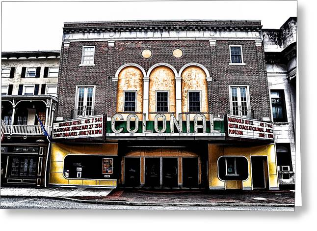 Phoenixville's Colonial Theater Greeting Card by Bill Cannon