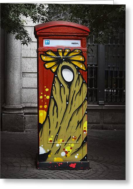 Phone Home - Oporto Portugal Greeting Card by Mary Machare