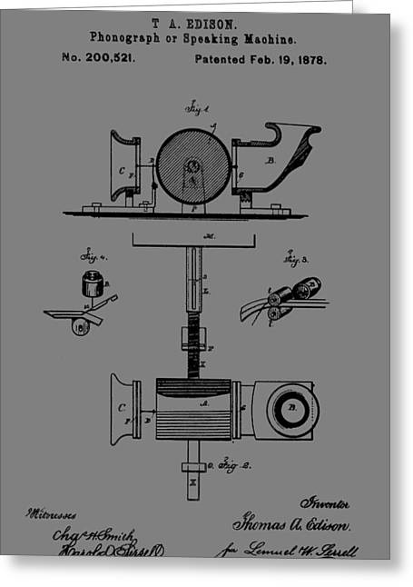 Phonograph Patent Greeting Card