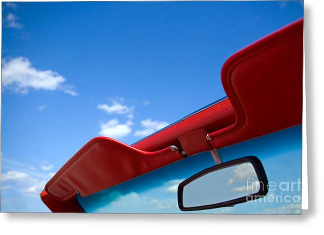 Photo Of Convertible Car And Blue Sky Greeting Card