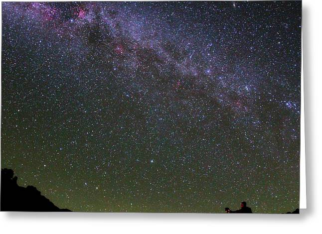 Photographer And The Milky Way Greeting Card by Babak Tafreshi