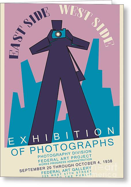 Photography Exhibition Poster 1938 Greeting Card