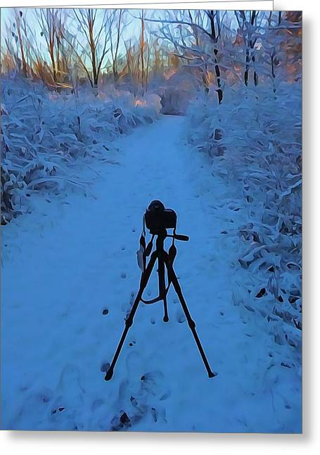Photography In The Winter Greeting Card by Dan Sproul