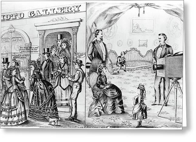 Photography Studio, 1873 Greeting Card