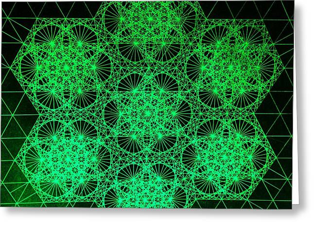 Photon Interference Fractal Greeting Card by Jason Padgett
