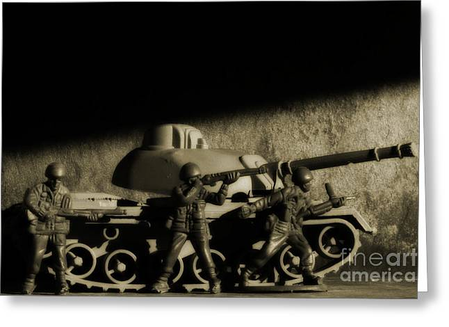 Photos From The Front World Wars Tank Greeting Card by Randy Steele