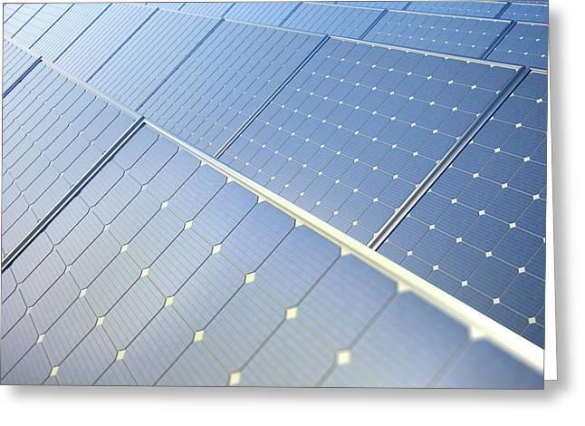 Photovoltaic Panels Greeting Card by Andrzej Wojcicki