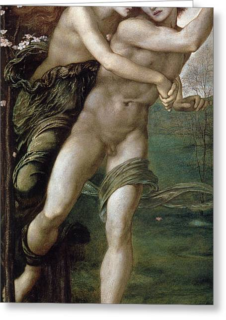 Phyllis And Demophoon Greeting Card by Edward Burne Jones