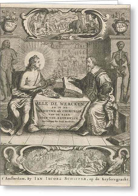 Physician Johan Beverwijk Studying Books About Apollo Greeting Card