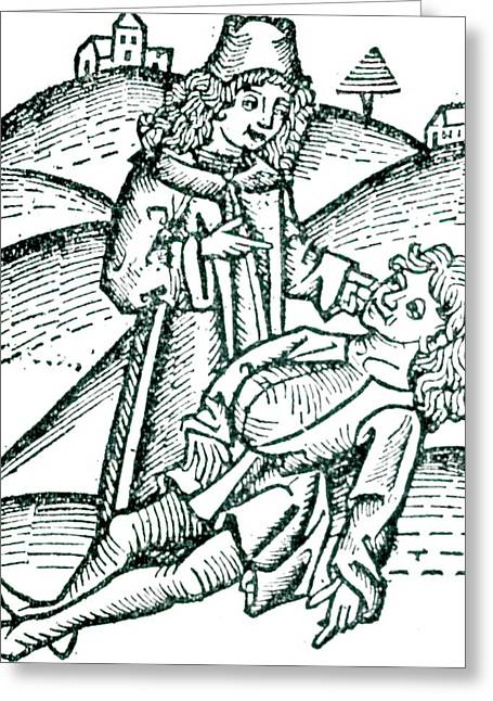 Physician Treating A Victim Of Poisoning Greeting Card