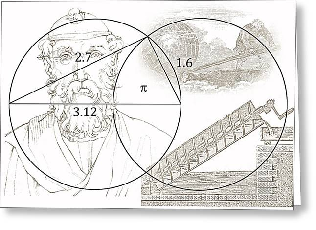Pi Archimedes Greeting Card by Daniel Hagerman