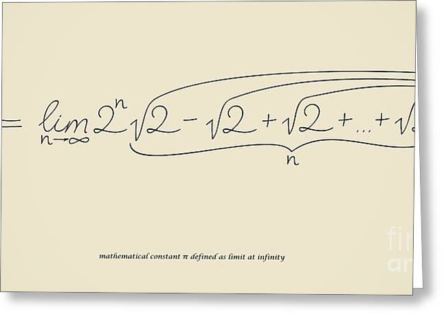 Pi As Limit At Infinity Greeting Card