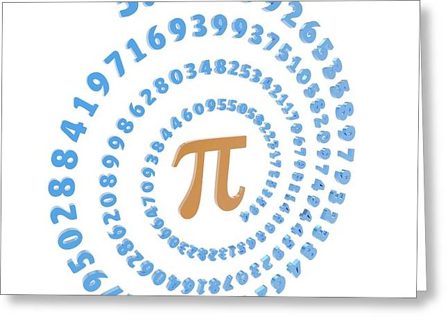 Pi Symbol And Number Greeting Card by Alfred Pasieka
