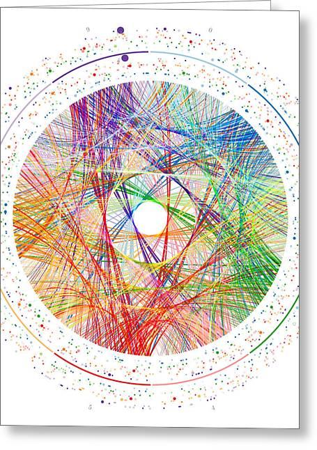 Pi Transition Paths Greeting Card