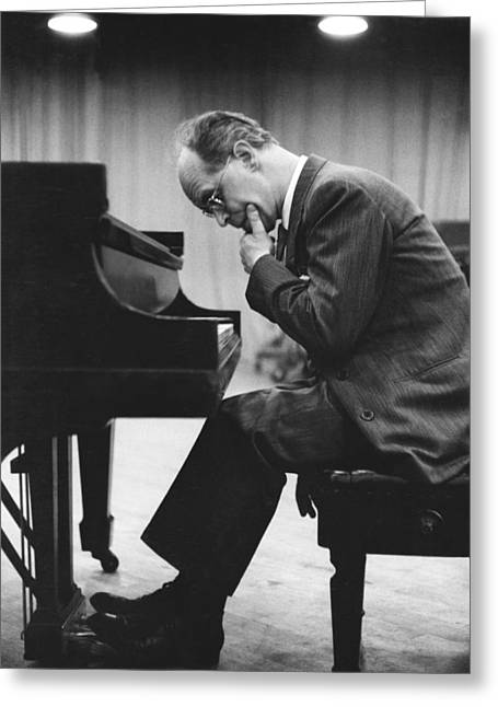 Pianist Rudolf Serkin Greeting Card by Underwood Archives