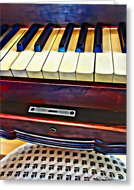 Piano And Stool Greeting Card