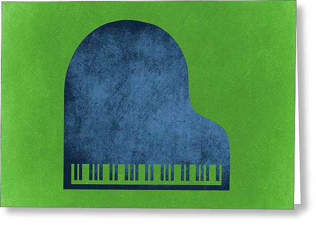 Piano Blues Greeting Card by Flo Karp