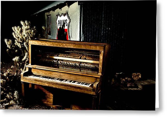 Piano In The Dark.  Greeting Card