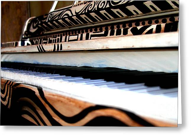 Piano In The Dark - Music By Diana Sainz Greeting Card