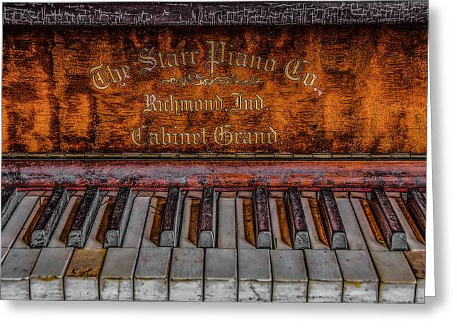 Piano Keys #1 Greeting Card by Ray Congrove