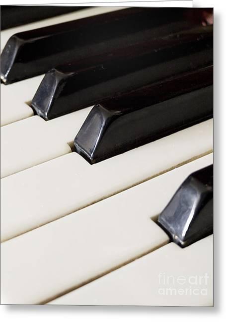 Piano Keys Greeting Card by Jelena Jovanovic