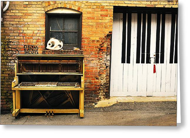 Piano Keys Greeting Card by Joe Longobardi