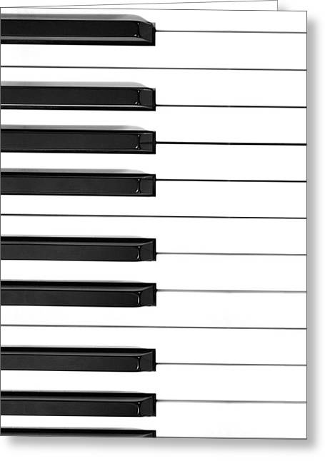 Piano Keys Phone Case Greeting Card by Nikki Marie Smith