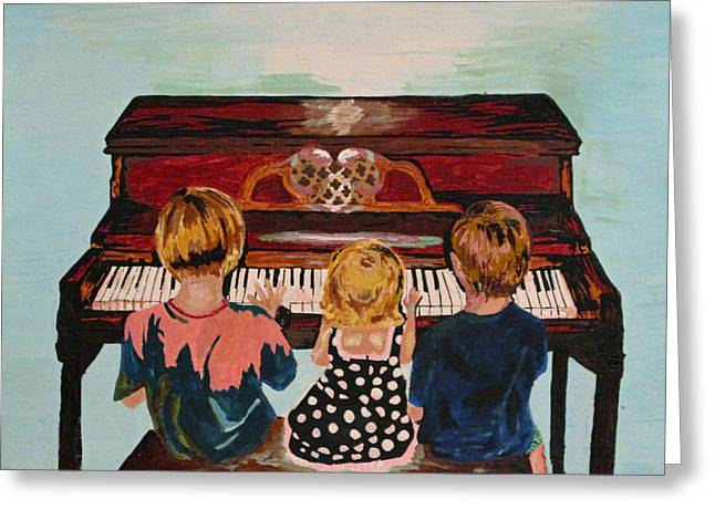 Piano Lesson Greeting Card by Brandy Nicole Neal