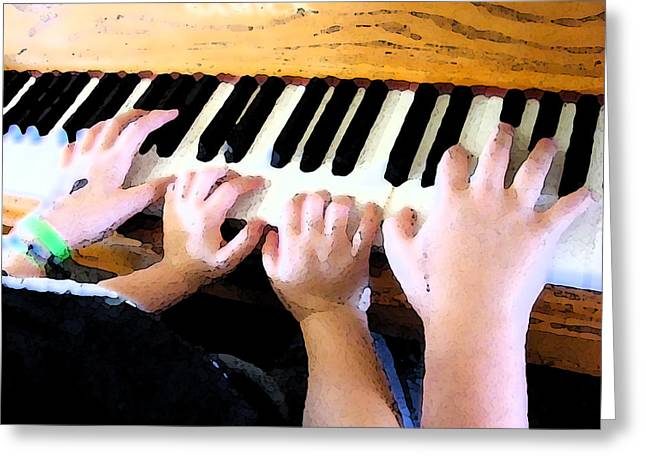 Piano Lessons Greeting Card