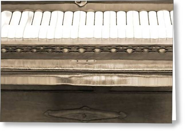 Piano Man Greeting Card by Dan Sproul