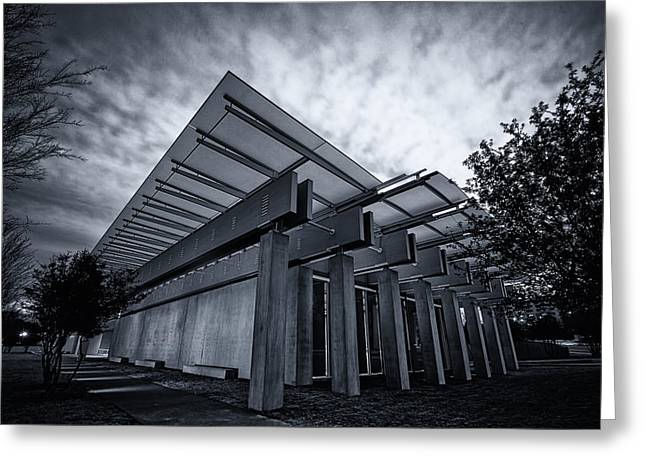 Piano Pavilion Bw Greeting Card by Joan Carroll